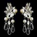 130x130 sq 1358655194007 antiquesilverdiamondwhitepearlcrystalandrhinestonebridalearrings22641
