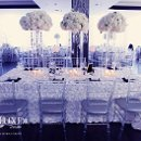 The Magnolia Event Boutique Shelley & Paul Singh Vintage modern wedding diffrent tables square with white rose fabric