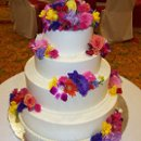 130x130 sq 1254620399714 whitecakevariesflowersnoribbobn