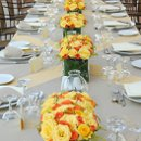 130x130 sq 1346952545159 yellowandorangelongtable.3111523std