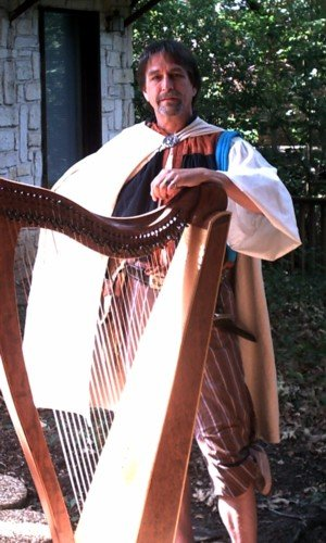 photo 4 of harpist Geoffrey Ricketts