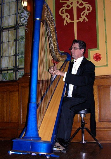 photo 2 of harpist Geoffrey Ricketts