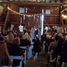 220x220 sq 1484073745153 ceremony in barn