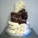 130x130 sq 1398900834418 brown and white with rose cascade   watermarke