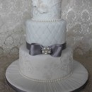 130x130 sq 1377817079036 white and silver wedding cake ow