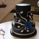 130x130 sq 1377818425194 black and white rose wedding cake ow