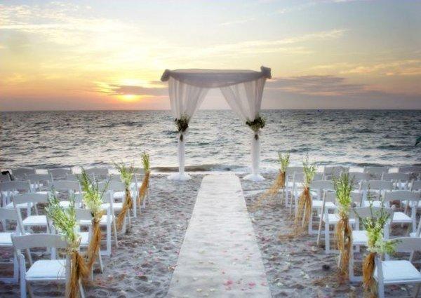 Vintage Beach Wedding Ceremony: Aisle Markers Aisle Runner Altar/Arch Arrangements Chuppah