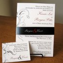130x130 sq 1301680377755 blackandredweddinginvitationwithbellyband