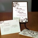 130x130 sq 1301680380740 brownfloralswirlweddinginvitation