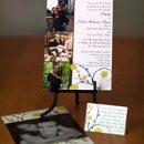 130x130 sq 1301680434380 greenandyellowfloralphotocardweddinginvitation