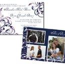 130x130 sq 1301680482146 navyblueandpurpleweddingphotocard