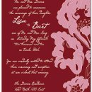 130x130 sq 1301680509990 pinkandredfloralweddinginvitation