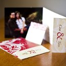 130x130 sq 1301681271974 creamandredflorishfoldedweddinginvitations119