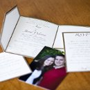 130x130 sq 1301681293896 goldandcreamcustompocketfoldweddinginvitations156