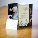 130x130 sq 1301681304880 creamandbrowncustomfoldedphotocardweddinginvitation189