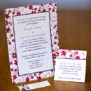 130x130 sq 1301681384427 redandwhitefloralweddinginvitations287