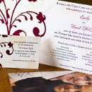 130x130 sq 1301681416068 redandcreamflourishweddinginvitations338
