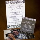 130x130 sq 1301681442537 blackandwhitedamaskcustomweddinginvitation364