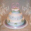 130x130 sq 1256830698286 daintyrosesanniversarycake