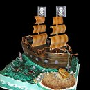 130x130 sq 1256830728208 pirateshipweddingcake