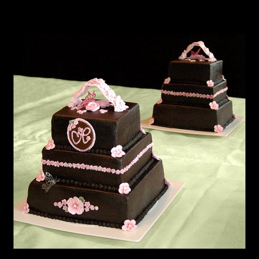 600x600 1256830671302 pinkandbrownweddingcake