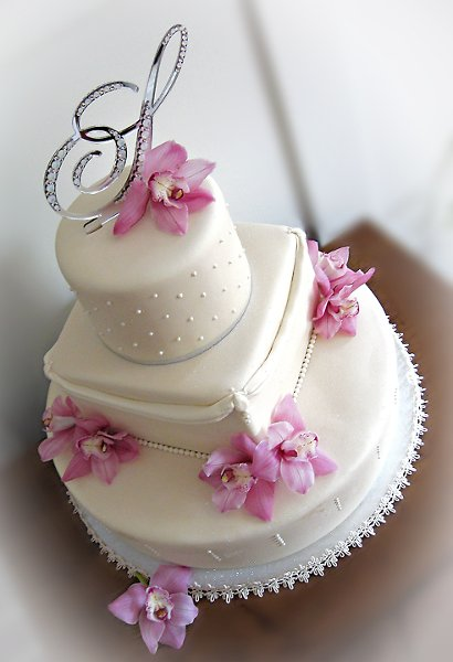 600x600 1297270504273 ivorypearlsilverorchidsweddingcake