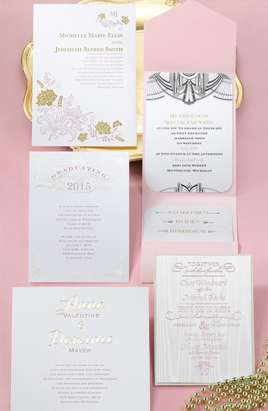 1478535649133 Pinkandgold1 Grandville wedding invitation