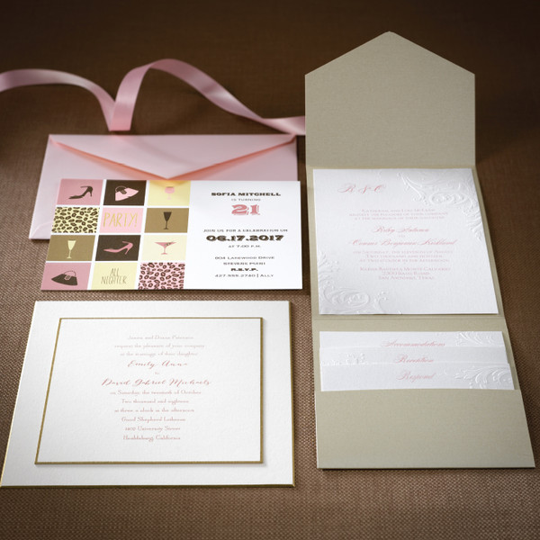 1478535649148 Pinkandgold2 Grandville wedding invitation
