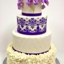 130x130 sq 1487103636584 wedding cakes new jersey   purple sweet peas custo