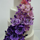 130x130 sq 1487103680933 wedding cakes new jersey   cascade of purple ombre