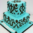 130x130 sq 1487106720277 engagement cakes new york   teal and brown damask