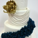 130x130 sq 1487106748456 engagement cakes nj   blue and gold custom cakes