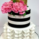 130x130 sq 1487106826083 engagement cakes nyc   gold and black custom cakes