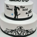 130x130 sq 1487106904224 engagement cakes new jersey   silhouette custom ca