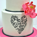 130x130 sq 1487107183183 bridal shower cakes nyc   word heart custom cakes