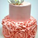 130x130 sq 1487107204519 bridal shower cakes new jersey   peach ruffles cus