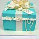 130x130 sq 1487108445921 bridal shower cakes nyc   tiffany gift box custom