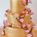 130x130 sq 1487108493810 bridal shower cakes new jersey   gold plum blossom