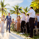 130x130 sq 1470201459817 beach wedding ceremony recessional bride groom dia