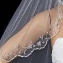130x130 sq 1392305875411 bridal wedding single layer elbow scalloped embroi