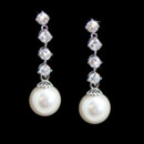 130x130 sq 1392307675025 3626 pearl drop zirconia earring