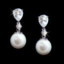 130x130 sq 1392307684599 3889 teardrop pearl cubic zirconia earring