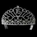 130x130 sq 1392308232386 rhinestone adorn sweet 15 or sweet 16 tiara headpi