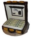 130x130 sq 1468943939075 suitcase cake