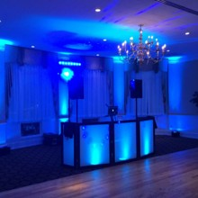 220x220 sq 1431003285318 blue uplighting and classic dance floor lighting
