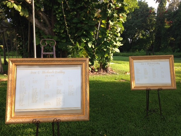 1460129696327 Framed Place Seating Chart Miami wedding catering