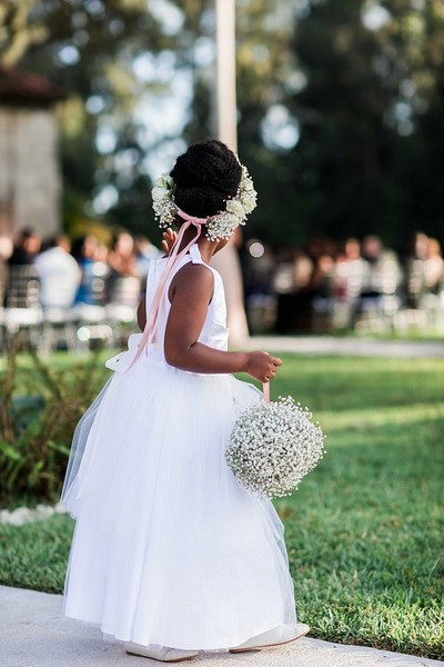 1460129725818 Flower Girl Babies Breath Pomander And Head Piece Miami wedding catering