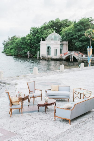 1493333805942 Vintage Blue Furniture Setting Vizcaya Miami wedding catering
