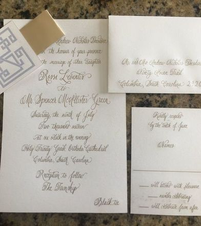 Mount pleasant wedding invitations reviews for invitations calligraphy by paige tanenbaum stopboris Image collections