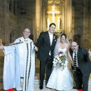 130x130 sq 1310663864429 ajewishcatholicweddingrabbimakesthebridehappy